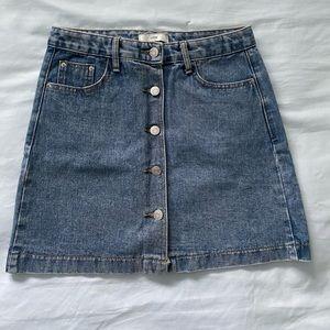 NWOT denim button up skirt